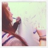 Leighton Meester signed her autograph on a radio station wall in Vancouver. Source: Instagram user itsmeleighton