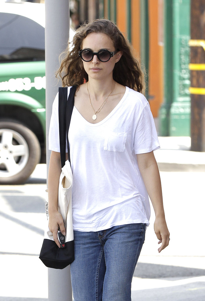 Natalie Portman Jets Back West For Her Many Movie Projects