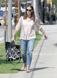 Jennifer Garner carried two bags.
