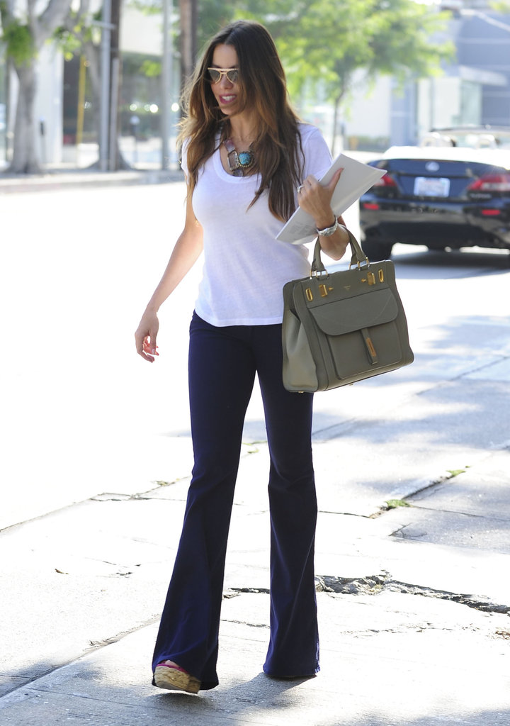Sofia Vergara wore a white t-shirt and jeans to shop in LA.
