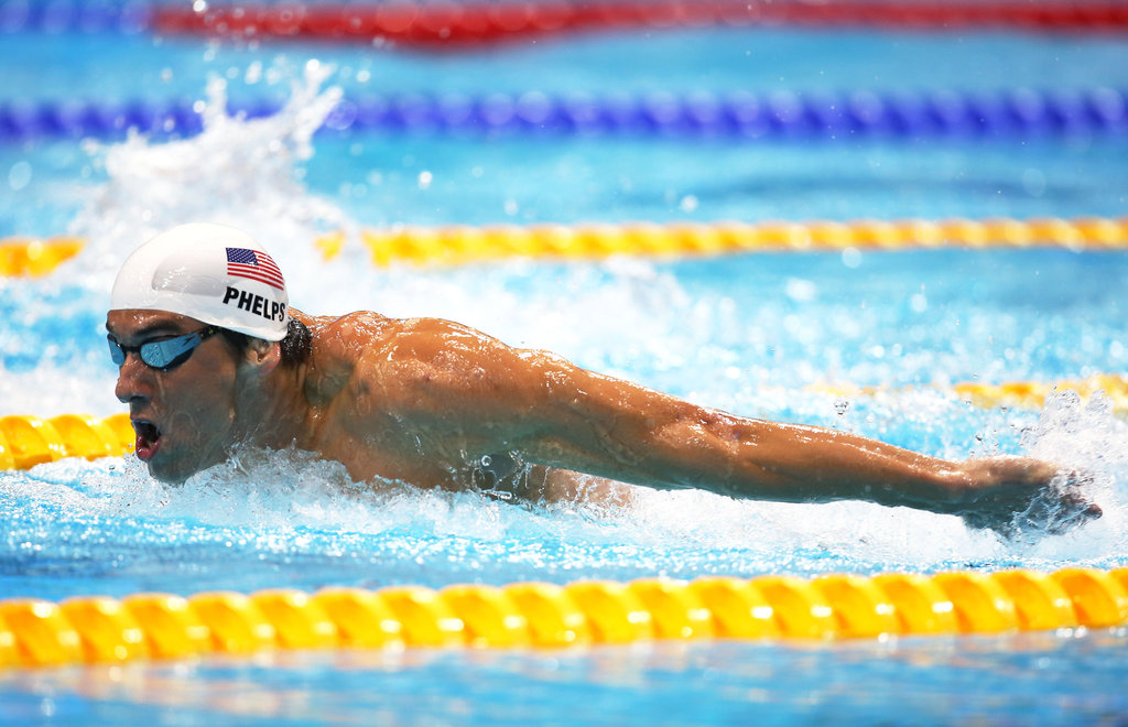 """""""When I race, I don't think about it; it just happens."""" — Michael Phelps on staying in the moment"""