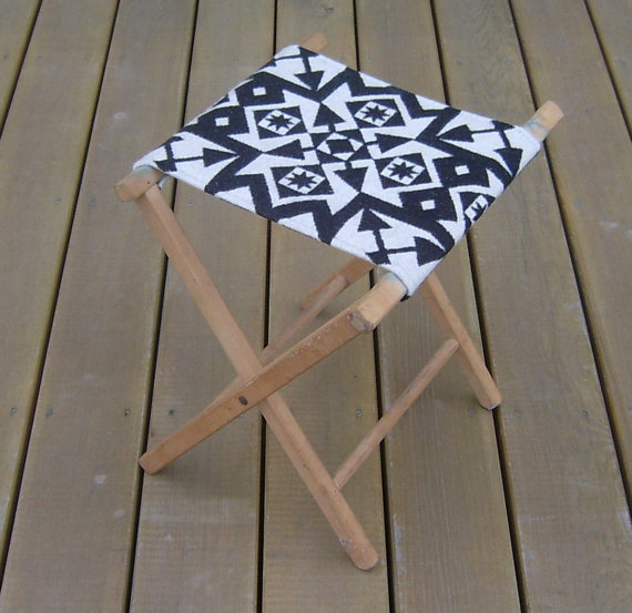No glamping trip would be complete without stylish, collapsible seating. We're loving this Vintage Camp Stool ($58) made from wood and a graphic Pendleton wool seat.