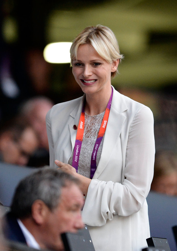 Princess Charlene smiled at the opening ceremony.