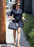 Jennifer Garner carried a purse in Brentwood.