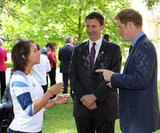 Prince Harry talked one on one with the athletes.