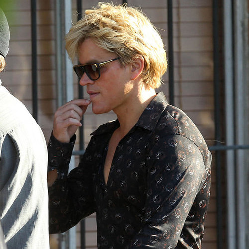 Matt Damon in Blond Wig Filming Liberace Movie