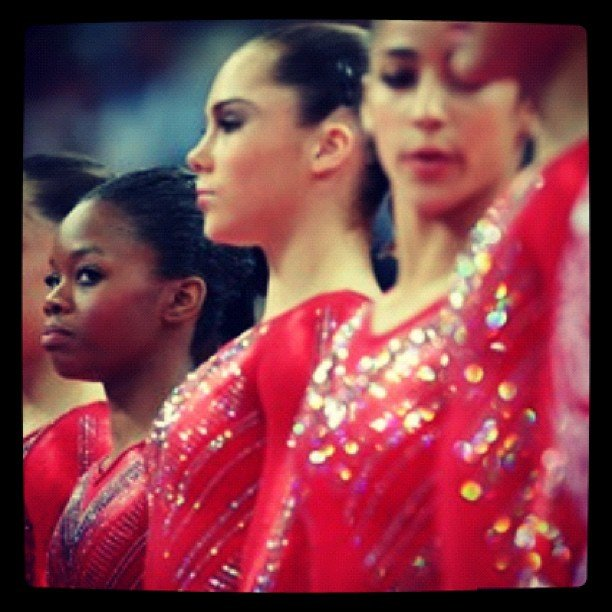 USA gymnast McKayla Maroney couldn't wait to show off her sparkly uniform.  Source: Instagram user mckaylamaroney