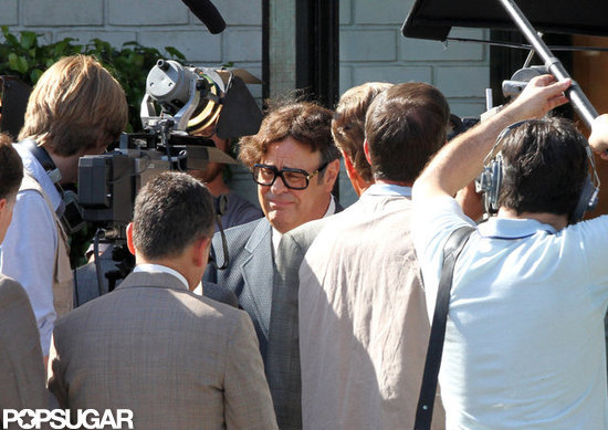 Dan Aykroyd on the set of Behind the Candelabra.