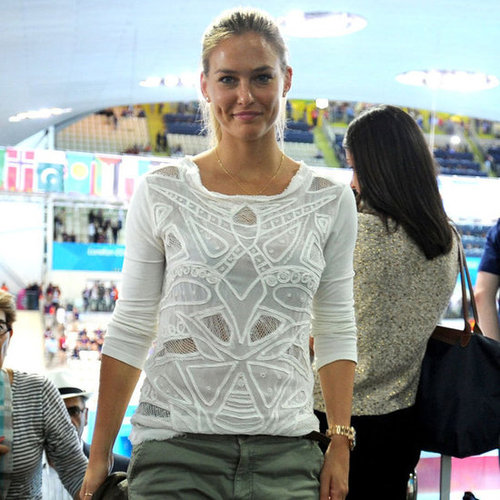 Bar Refaeli Watching Nathan Adrian's Gold Medal Win