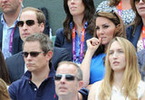 Prince William and Kate Middleton nervously watched Andy Murray in the Quarterfinal of the Men's Singles Tennis match.