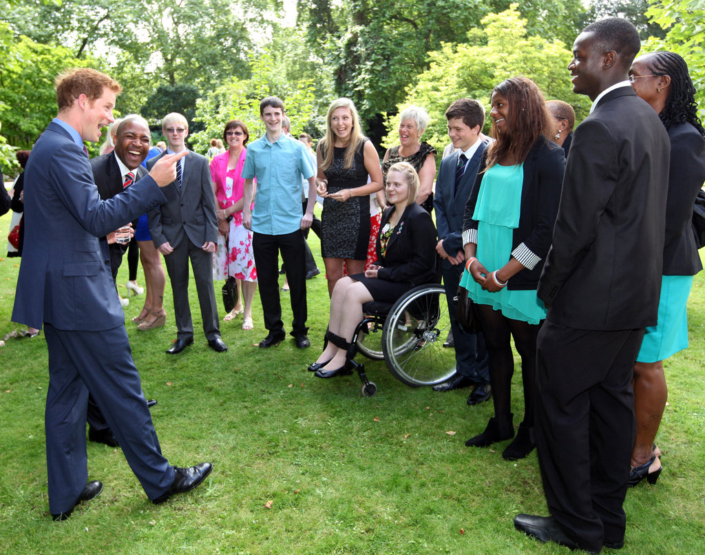 Prince Harry's charismatic nature made him the perfect host.