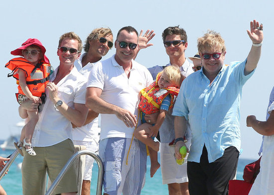 Neil Patrick Harris and Elton John Join Forces For a Family Getaway