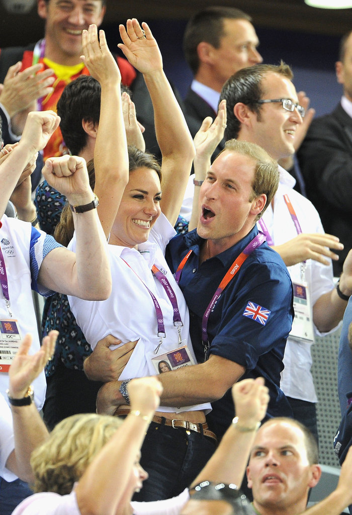 Kate Middleton and Prince William Embrace to Celebrate Team GB
