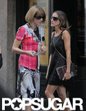 Sarah Jessica Parker and Anna Wintour met up for lunch in NYC.