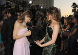 Kate Beckinsale and Jessica Biel admired each other at the Total Recall premiere in LA.
