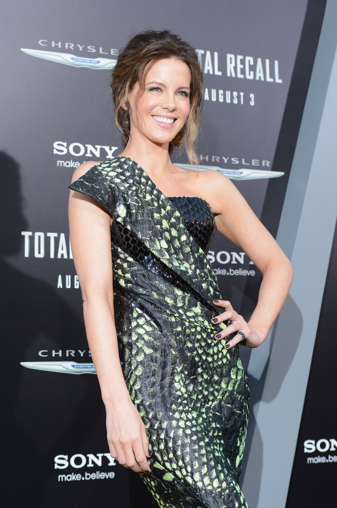 Kate Beckinsale struck a pose at the Total Recall premiere in LA.