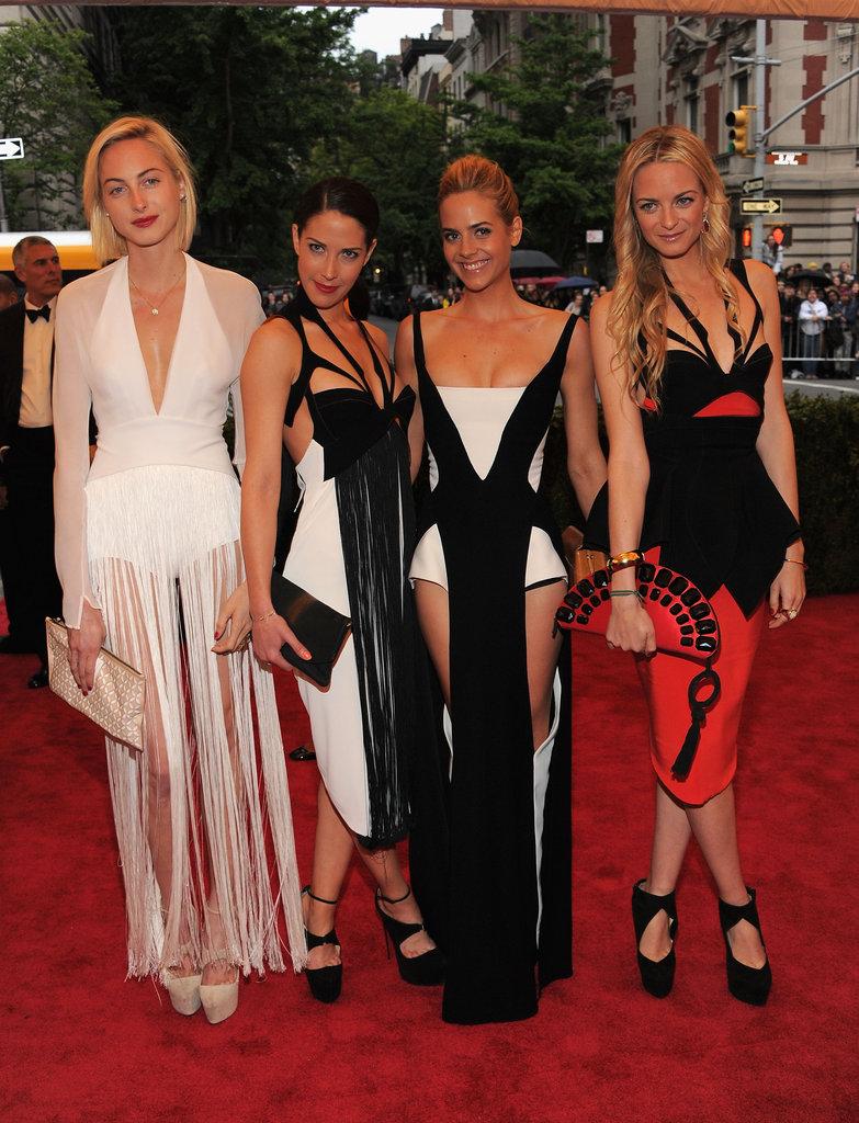 Jenna, Virginie, Claire, and Prisca Courtin-Clarins
