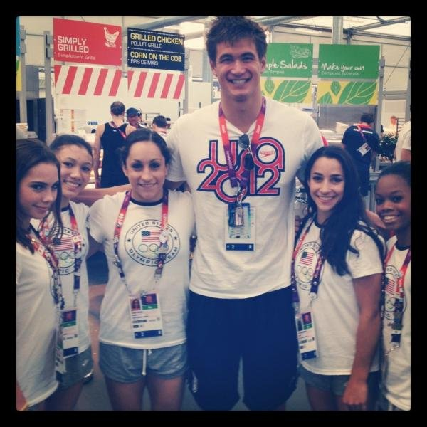 Nathan Adrian and the Women's Gymnastics Team