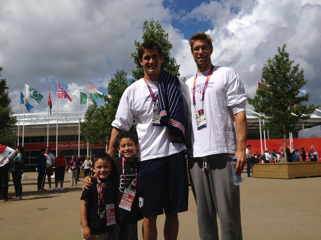 Nathan Adrian and Matt Grevers