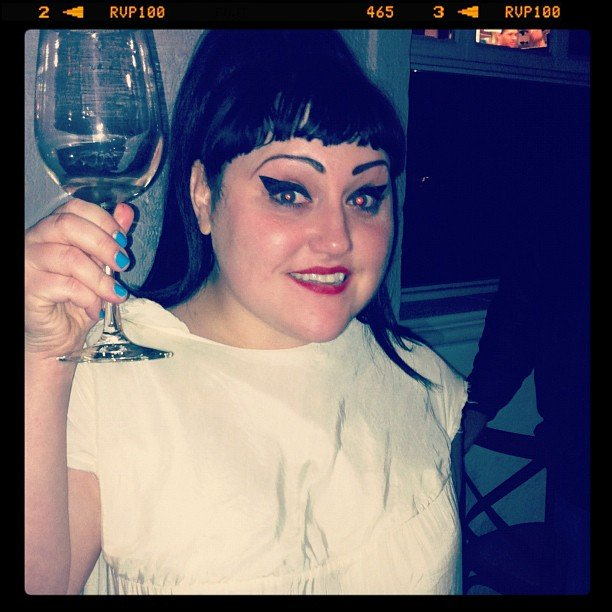Jess joined Gossip's Beth Ditto for drinks at Awkward Bar. Cheers!