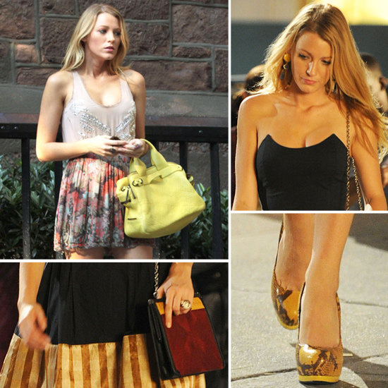 Score Blake Lively's Yellow Python Pumps From Gossip Girl