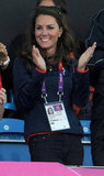 Kate Middleton had a big smile on her face.