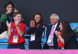 Kate Middleton clapped at the men's field hockey match.