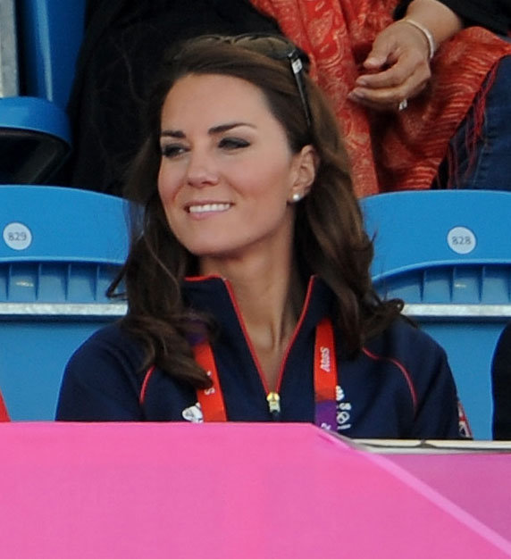 Kate Middleton watched men's field hockey.