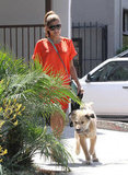Eva Mendes Walks Into the Weekend With Ryan Gosling's Dog