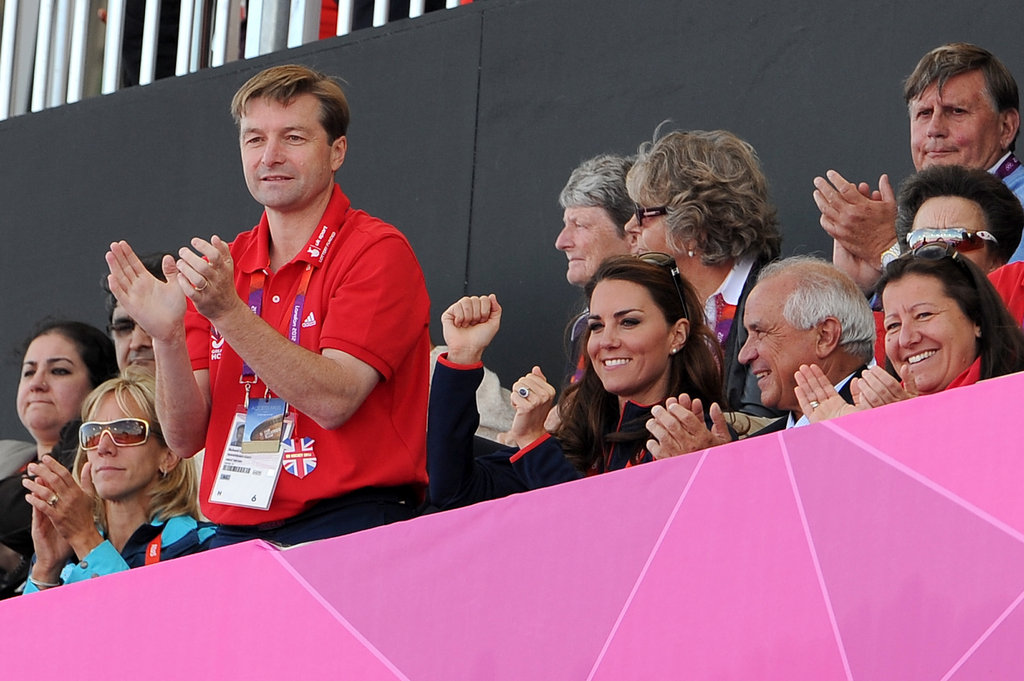 Kate Middleton cheered on Great Britain's men's field hockey team.