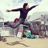 Apolo Ohno showed off his jumping skills.   Source: Twitter user todayshow