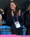 Kate Middleton clapped for team GB.