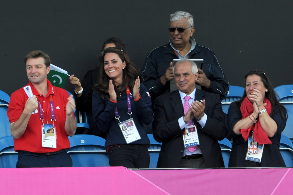 Kate Middleton cheered on her team.