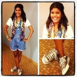 How cute is assistant editor Britt, showing off her overalls?