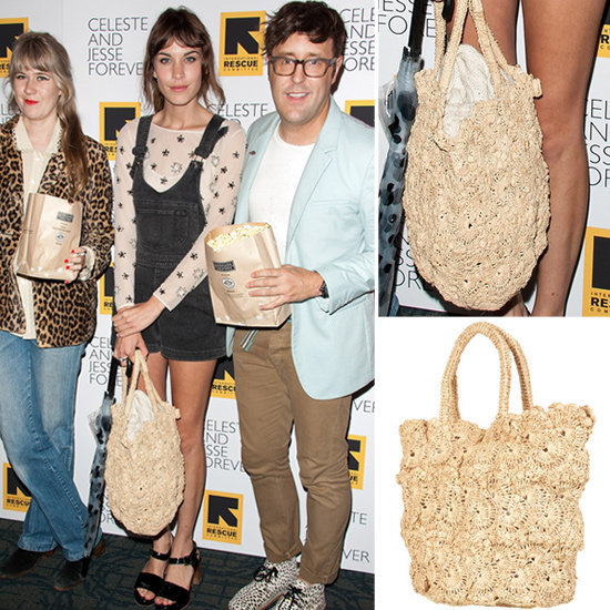 Alexa Chung carried a just-the-thing-for-Summer straw tote, and now we want one.