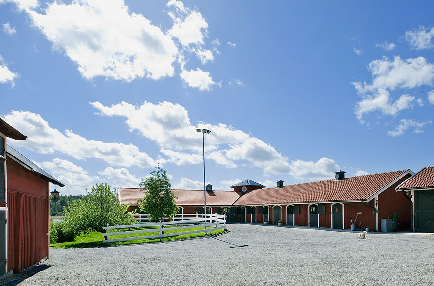 A view of the stables.