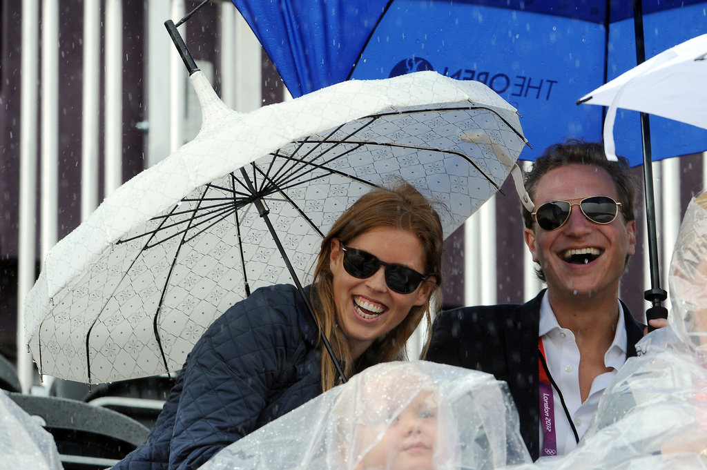 Princess Beatrice and her boyfriend, Dave Clark, watched an equestrian event on day seven of the Olympics.
