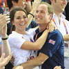 Cute Kate Middleton and Prince William Hugging Pictures at 2012 London Olympics