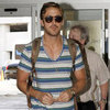 Ryan Gosling Wearing a Striped Shirt in New Orleans