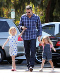 Ben Affleck held hands with Seraphina and Violet.