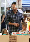 Ben Affleck was at the farmers market in LA with daughters Violet and Seraphina.