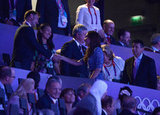 Kate Middleton and Prince Harry Watch the Closing Ceremony