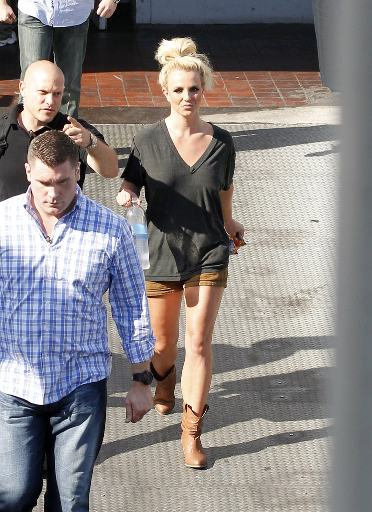 Britney Spears had a photo shoot in LA.