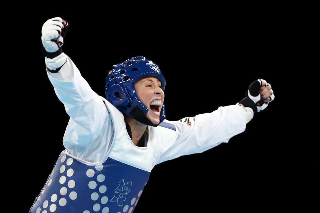 Jade Jones of Great Britain was ecstatic after winning gold in the women's 57-kilogram Taekwondo final.
