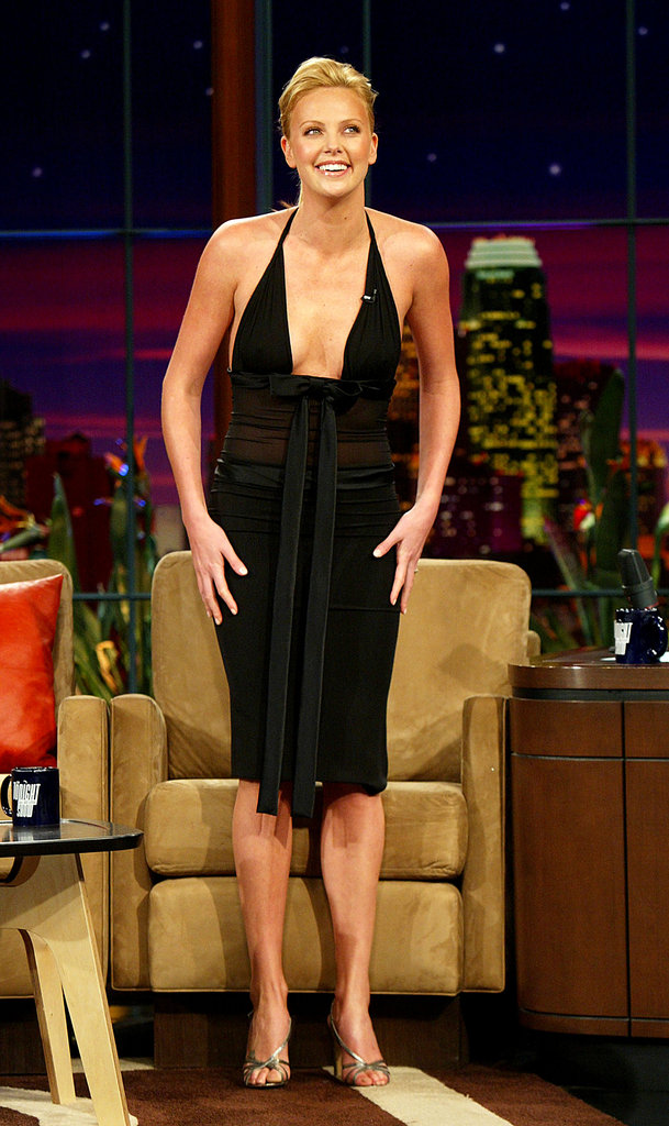 Charlize Theron made an appearance on The Tonight Show With Jay Leno in 2004.