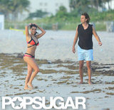 Kim Kardashian hit the beach with Jonathan Cheban.