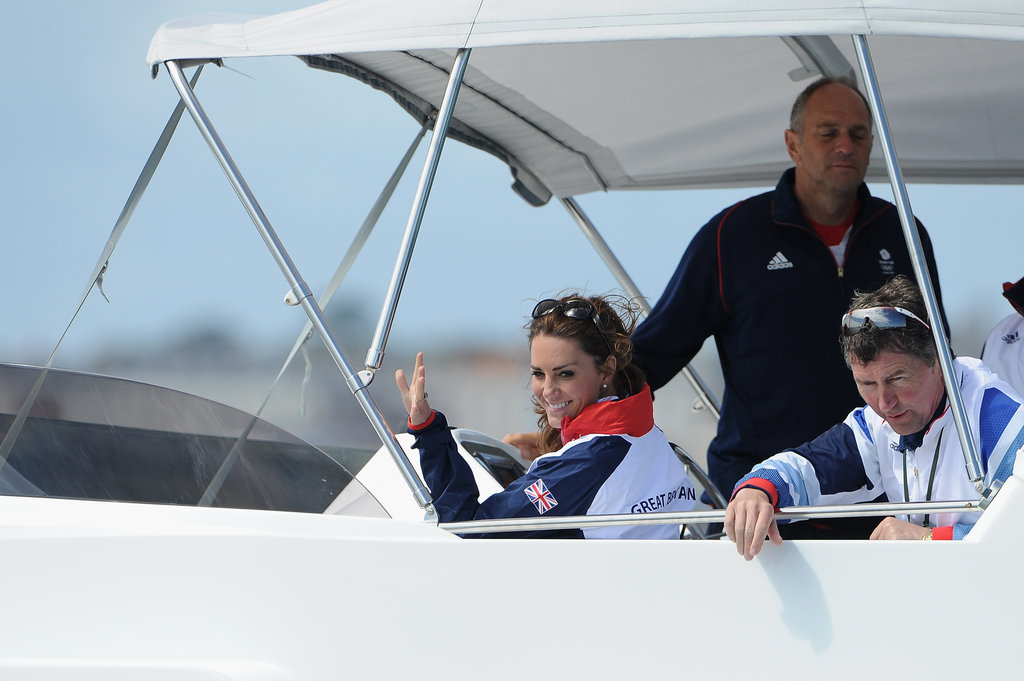 Kate Middleton watched Olympic sailing.