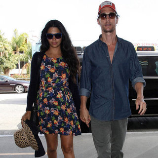 Matthew McConaughey and Pregnant Camila Alves at LAX