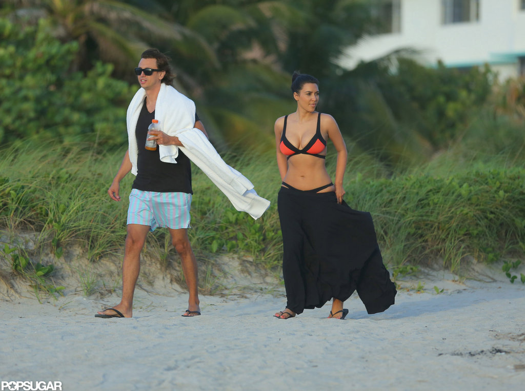 Kim Kardashian Has Bright Bikini Time in Miami