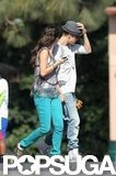 Justin Bieber and Selena Gomez spent time together on the set of her movie Parental Guidance Suggested.